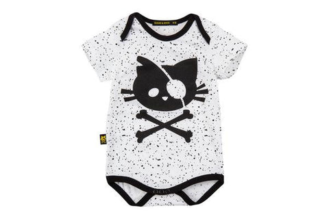 White Onesie with a citten print