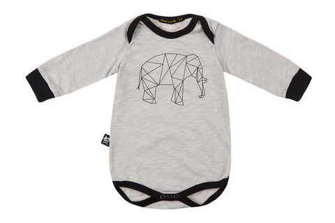 Onesie Elephent long sleeve Grey