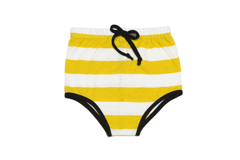 Boxer shorts white and yellow stripes