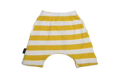 Bloomer shorts white and yellow stripes