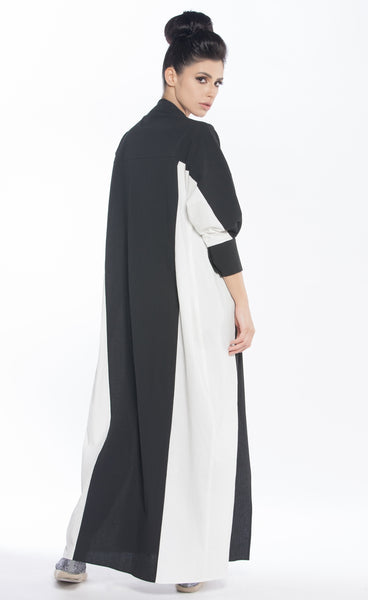 Two-toned Textured Abaya
