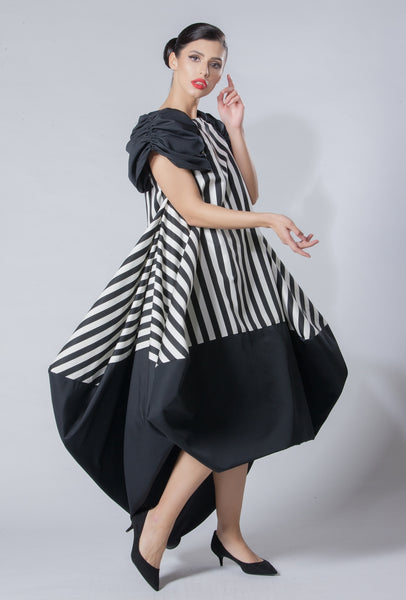 Silk Taffeta with Stripes Kaftan