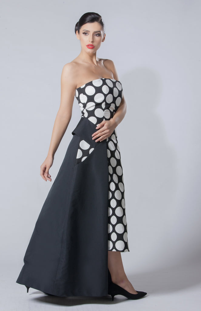 Silk Polka Taffeta Dress