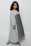 Metallic lined kaftan with flowy cut