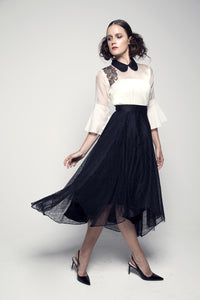 High-low Hem Lace Skirt