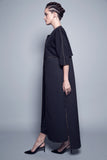 Textured Floral Layered Abaya