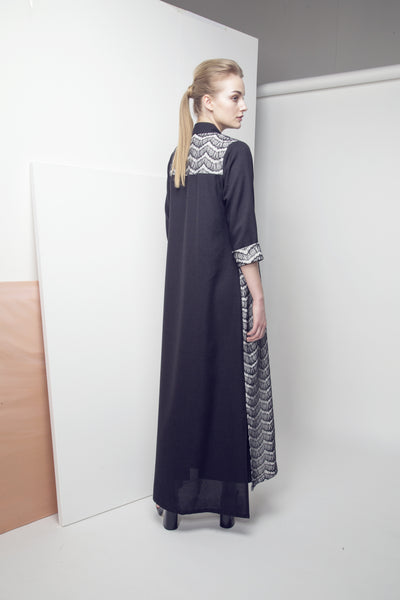 Scallop Lace and Crepe Abaya