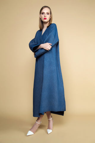 Quilted Denim and Plain Denim Abaya