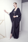 Embroidered Cuff Crepe Abaya