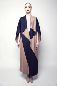 Double-Sided Two-Toned Jersey Abaya