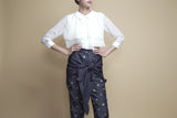 Front-Bow Polka-Dot Pants