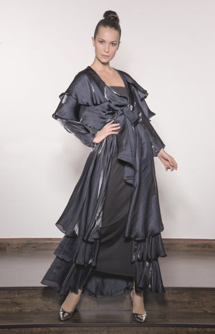 Airflow Silk Layered Abaya With Belt