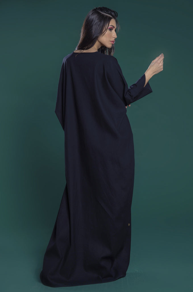 Abaya with mariposa sleeves and fitted cuffs