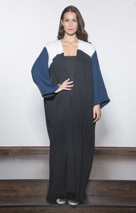 Three-toned Micropleat Abaya