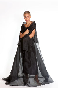 Silk Organza Abaya Wrap Cape Cut
