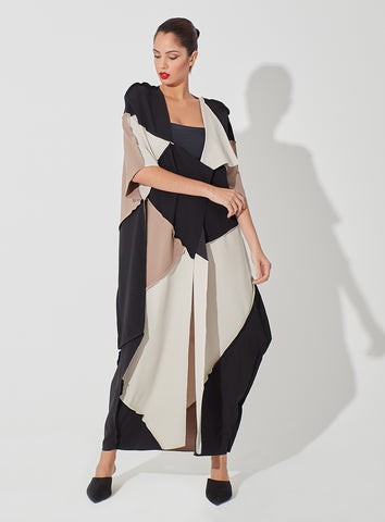 Trio Color Patched Abaya