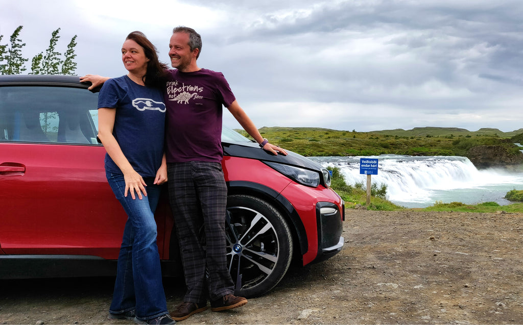 UK couple are among first to complete Iceland 'Route One' ring road in electric car