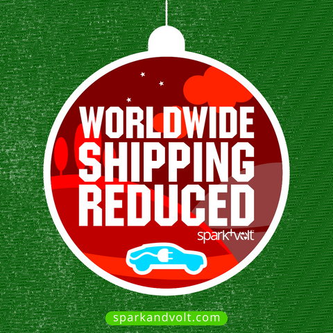 Worldwide shipping reduced for EV merchandise, EV gifts, EV Tshirts