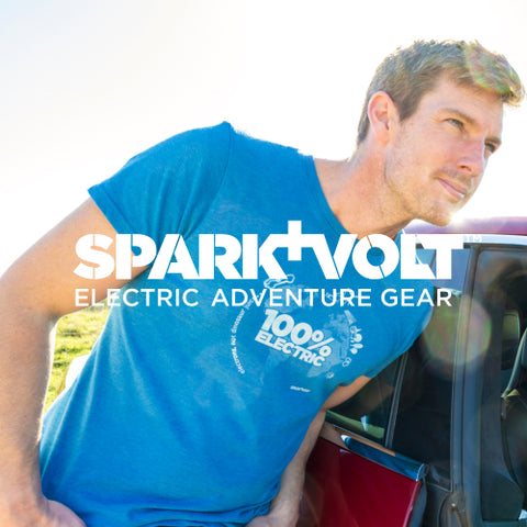 Unisex '100% Electric' T-Shirt (Electric Blue) - SPARK+VOLT