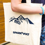 EV Adventurer's Natural Cotton Tote Shopping Bag - SPARK+VOLT