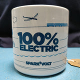 """100% Electric"" Ceramic Mug - SPARK+VOLT"
