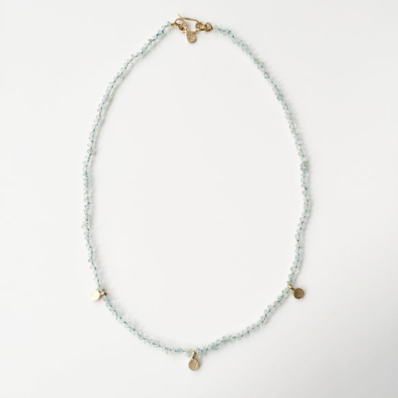 Aquamarine and Gold Necklace