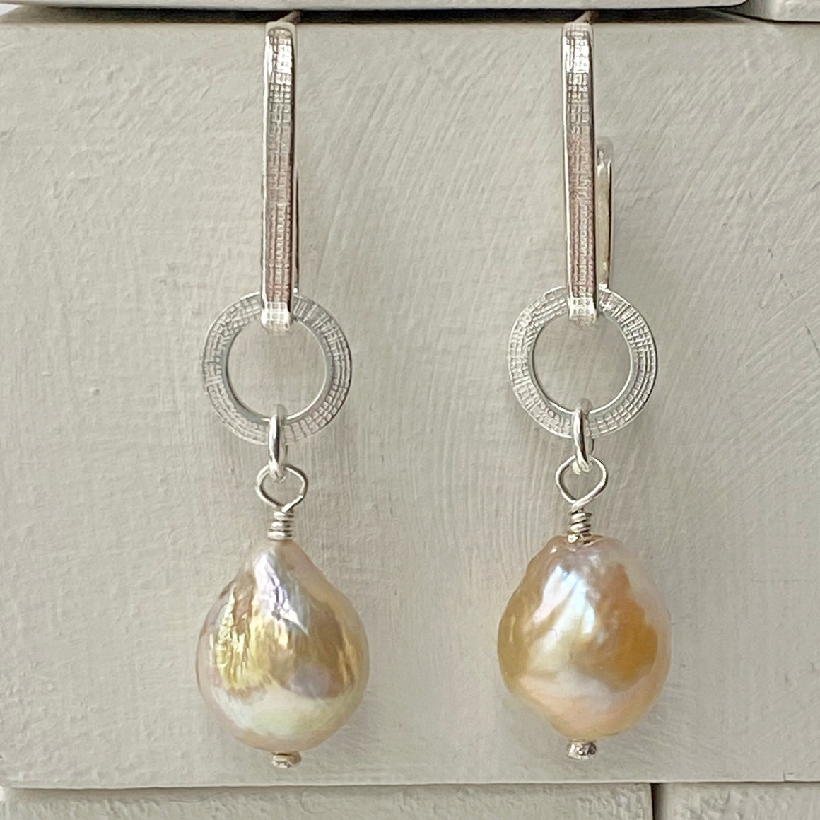 Baroque Pearl Silver Athena Earrings