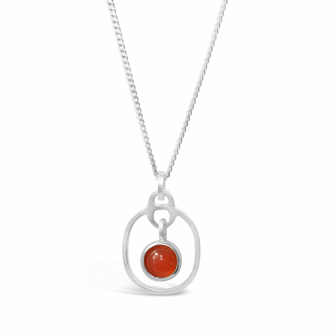 Birthstone Pendant Carnelian July