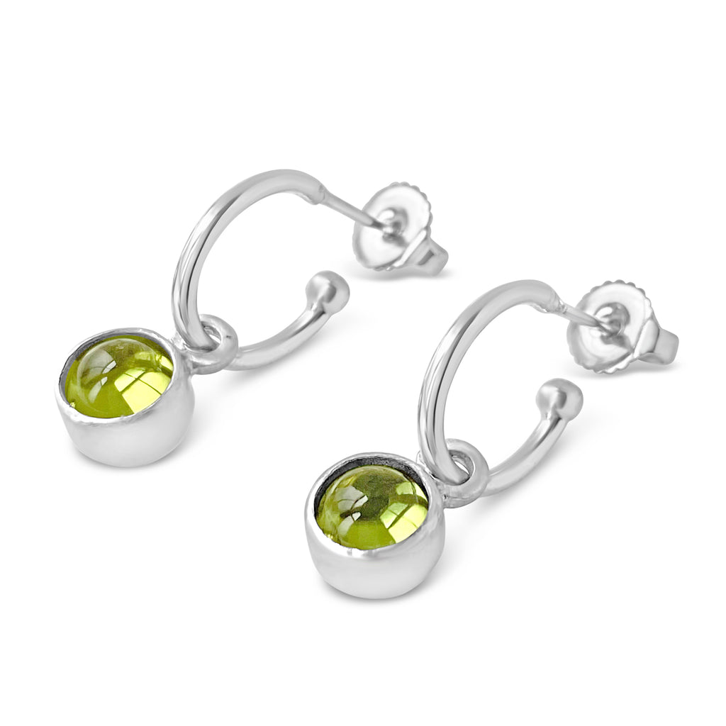 Birthstone Hoop Peridot Earrings