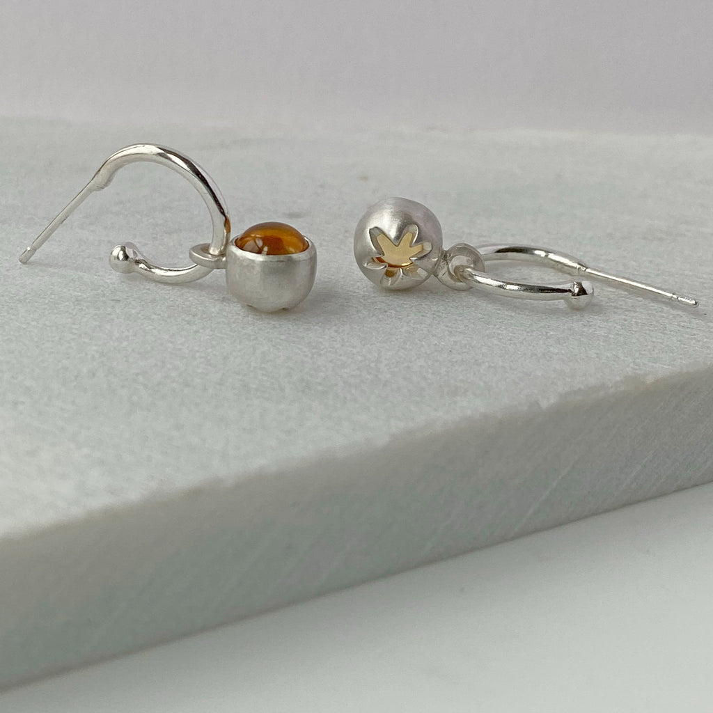 Birthstone Hoops Citrine