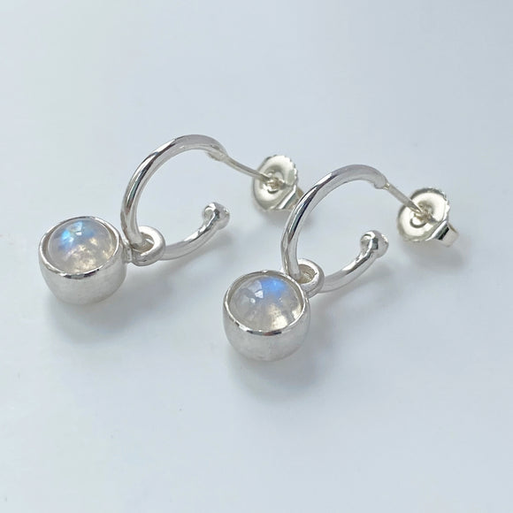Birthstone Hoops Moonstone