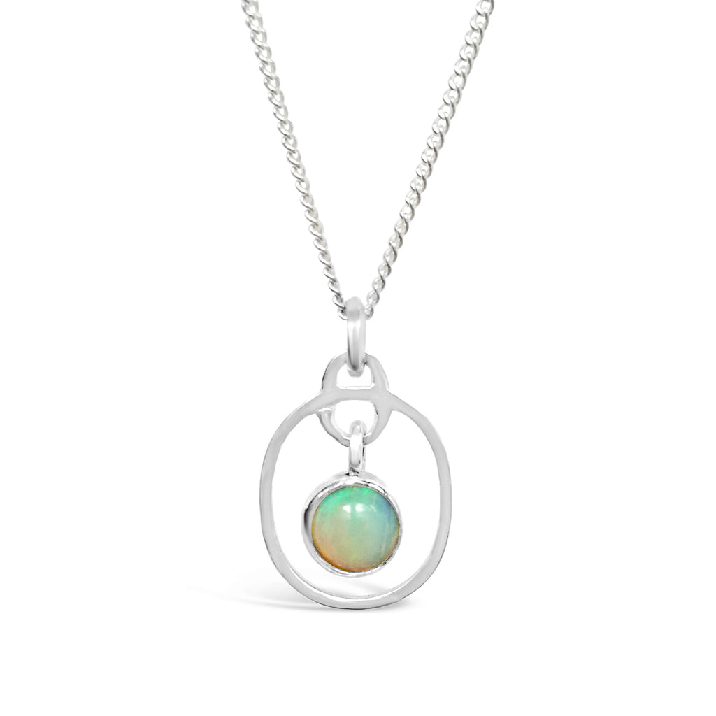 Birthstone Pendant Opal October