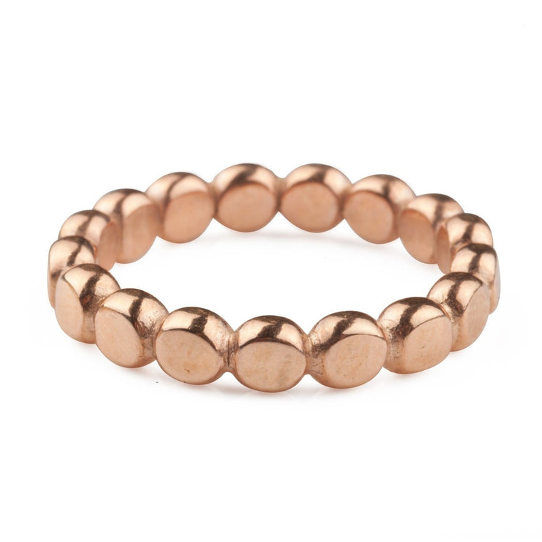 Chunky Rose Gold Bubble Ring