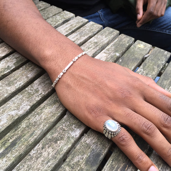 Cube Silver Mens / Womans Bracelet
