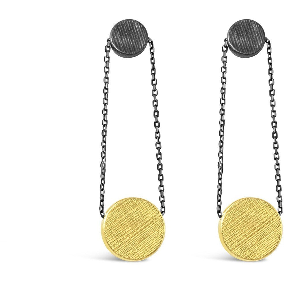 Dot Disc Earrings