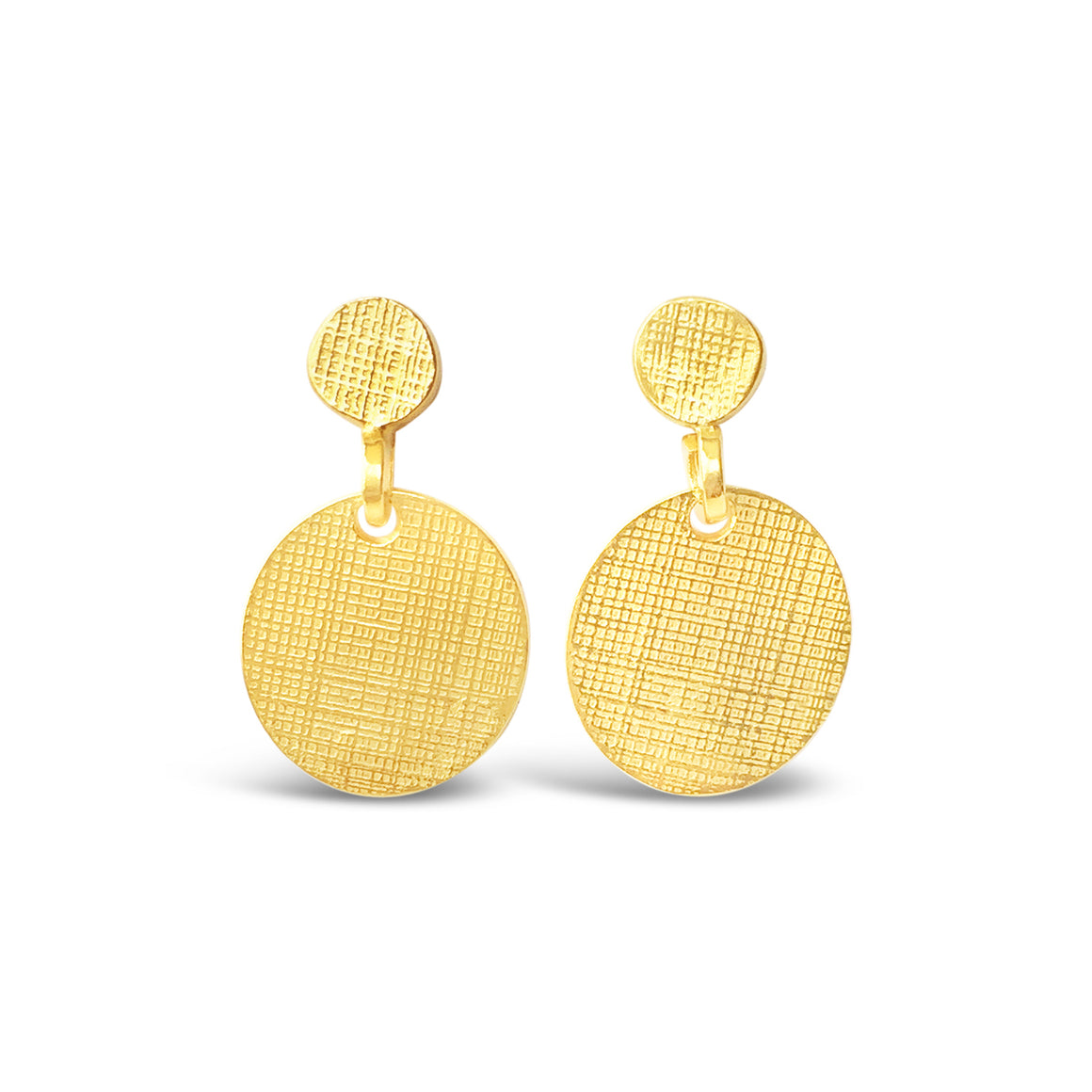 Double Dot Earrings Gold