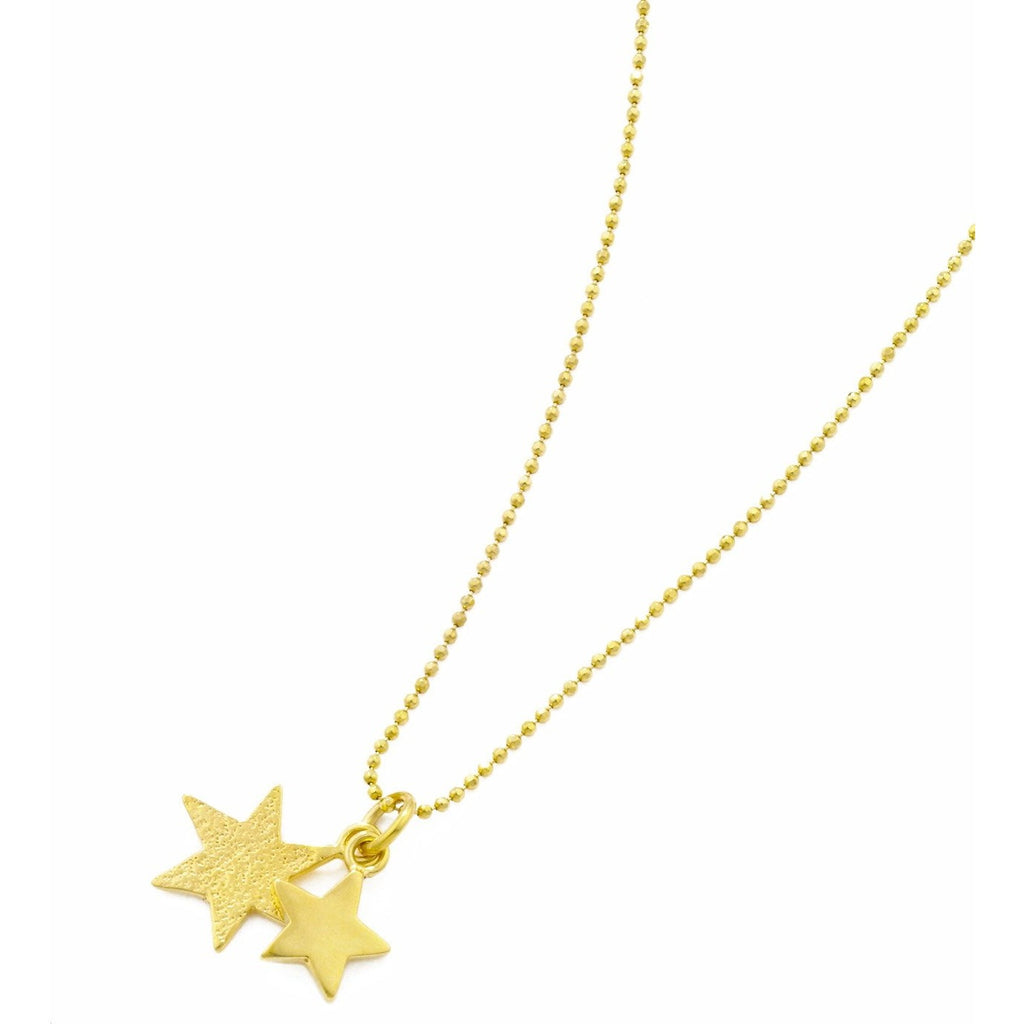 Double Star Pendant in Gold