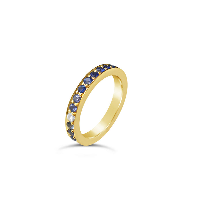 Sapphire Eternity Ring Yellow Gold