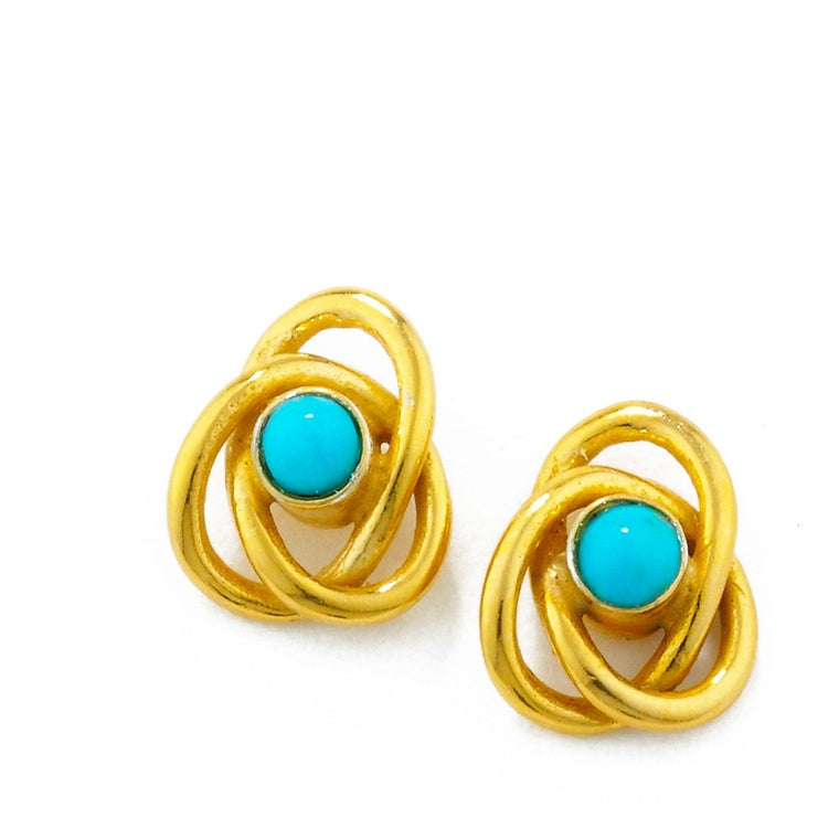 Eternal Knot Earrings in Gold