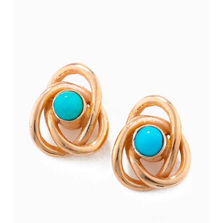 Eternal Knot Earrings in Rose Gold