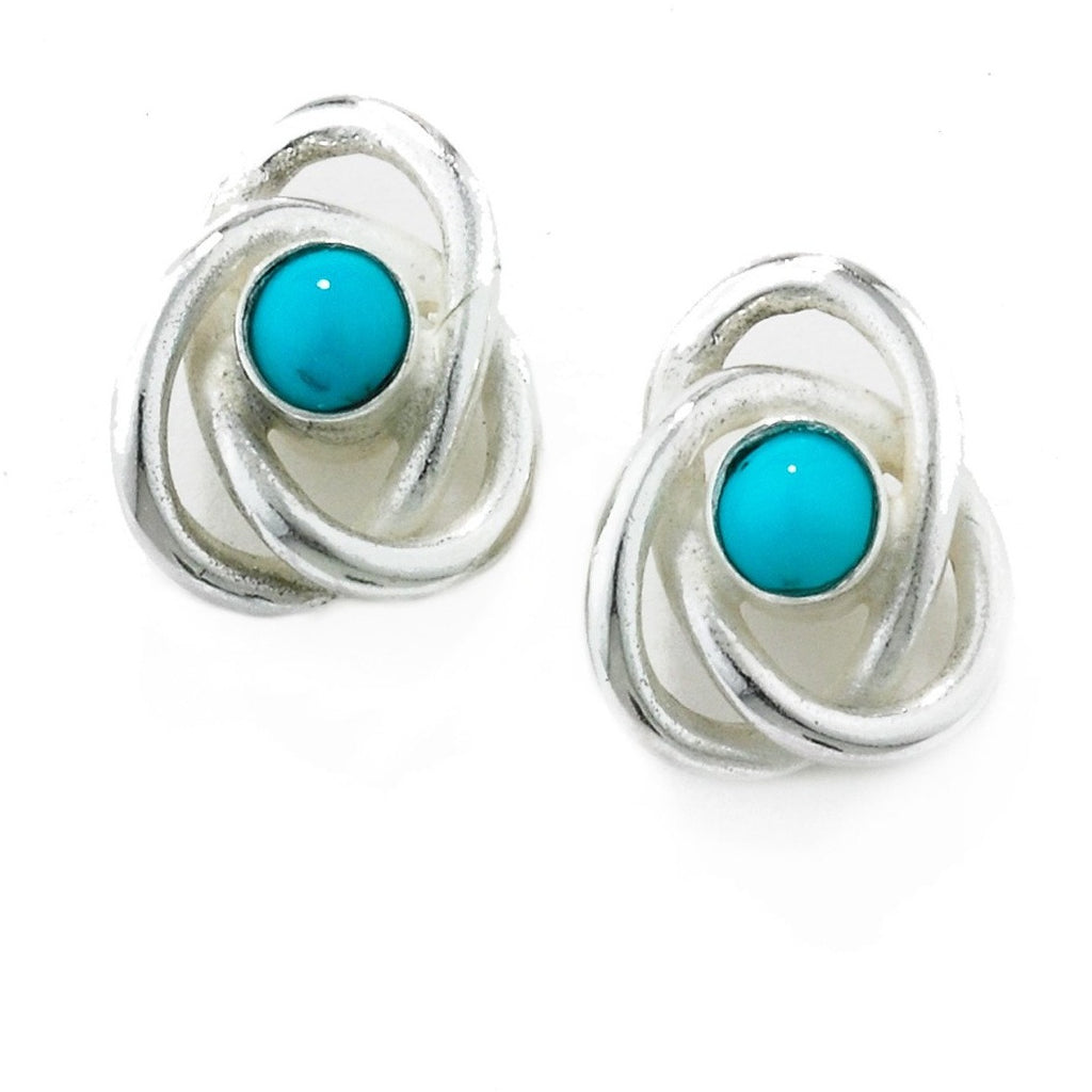 Eternal Knot Earrings in Silver