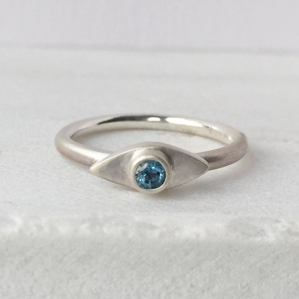Eye Topaz Stacking Ring