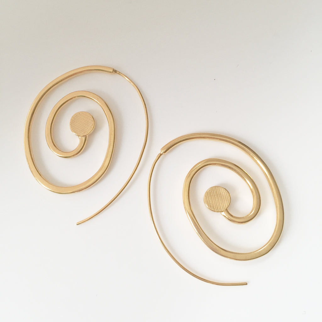 Goddess Spiral Earrings