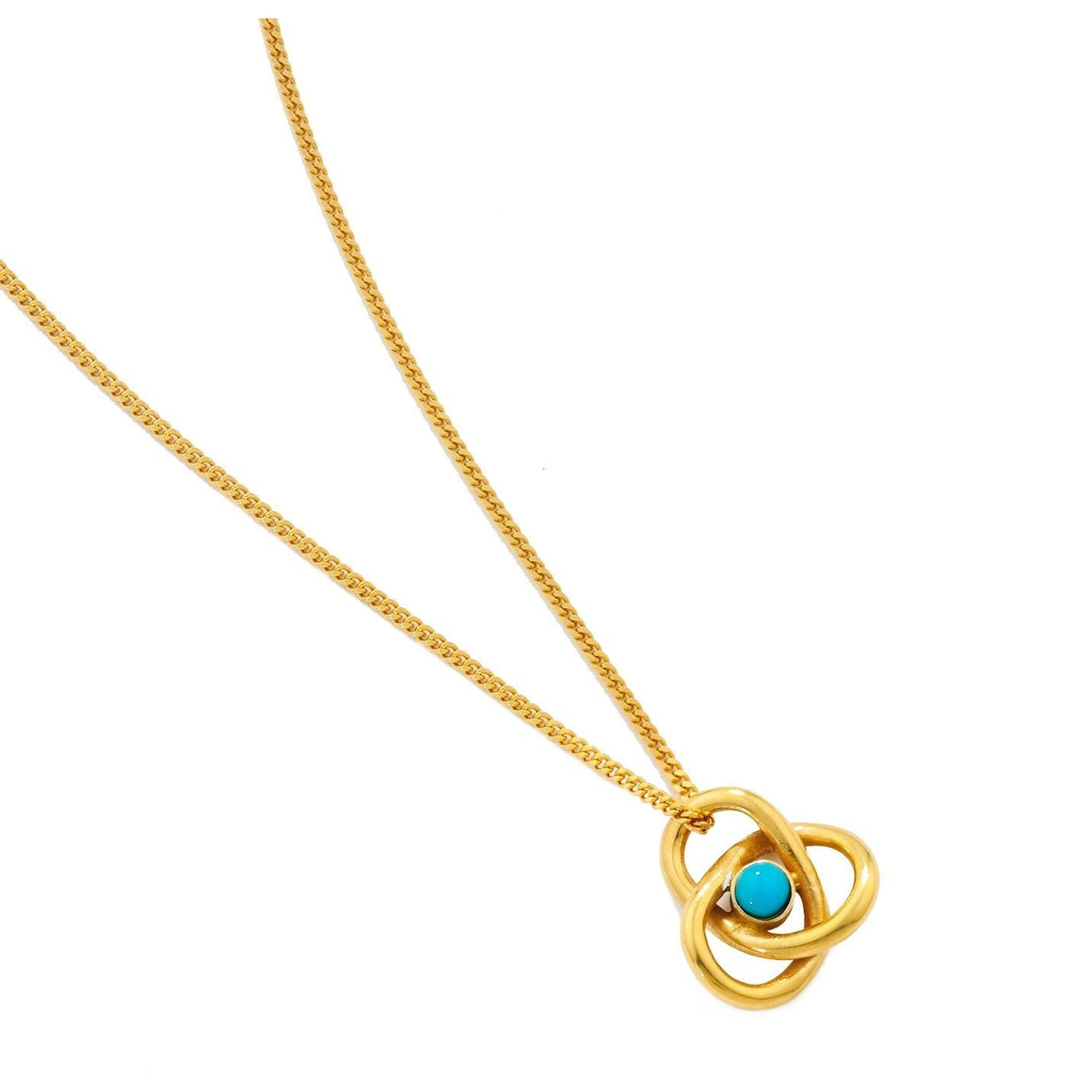Eternal Knot Pendant in Gold