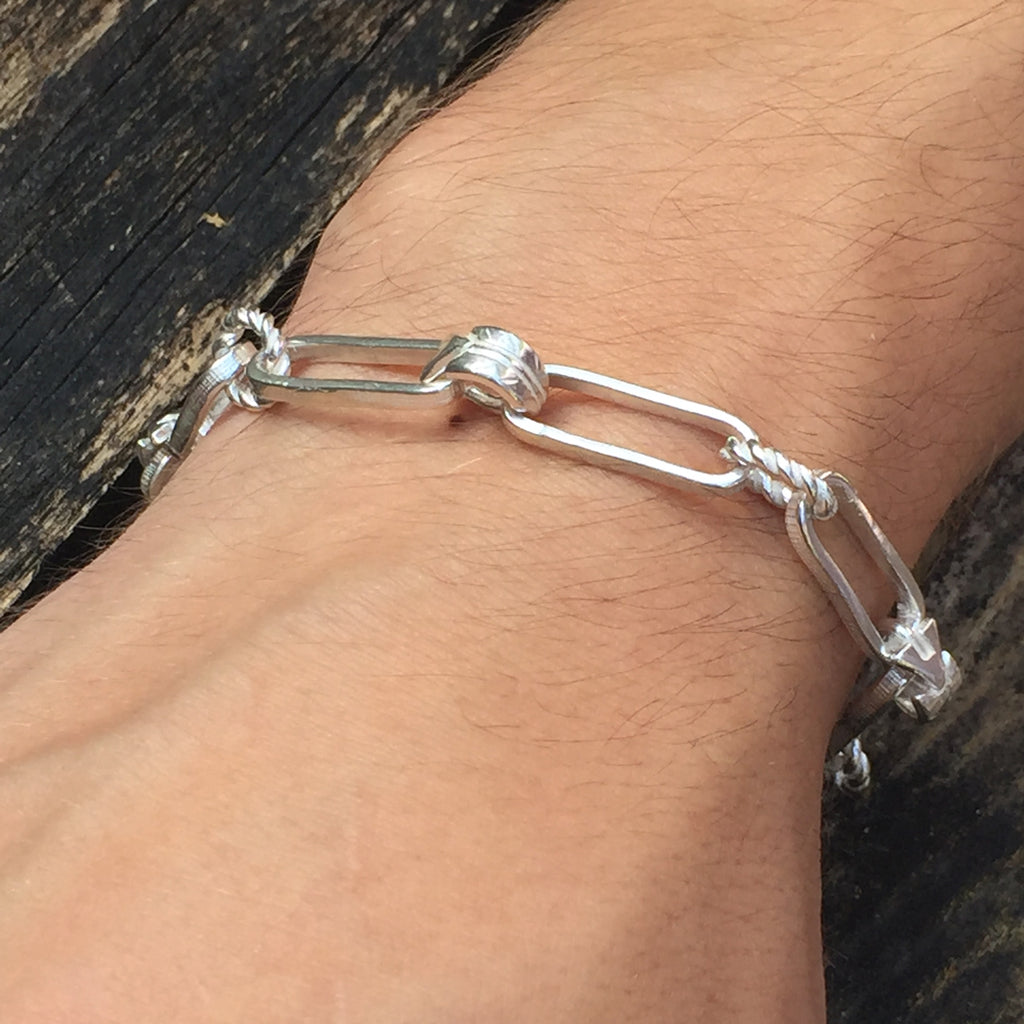 Arrow Chunky Silver Mens or Womans Bracelet.