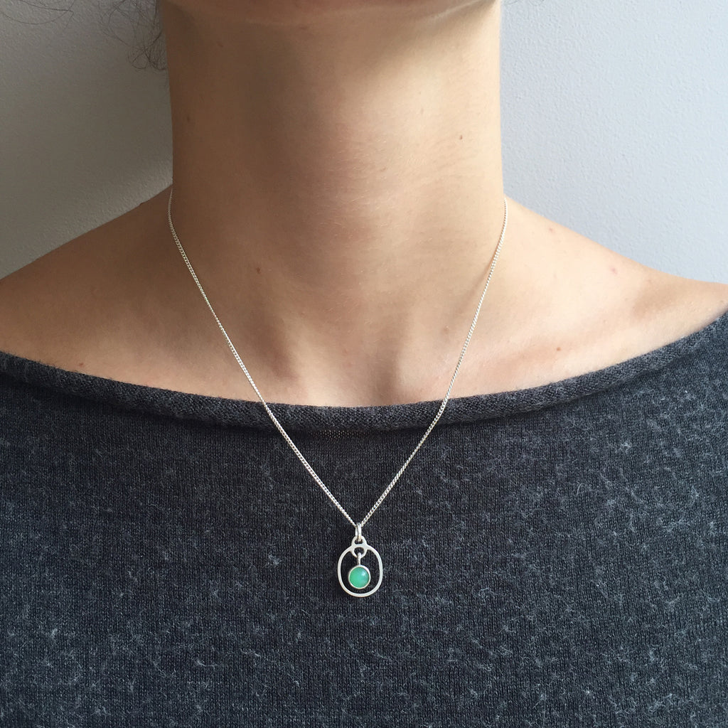 Birthstone Pendant Chrysoprase May