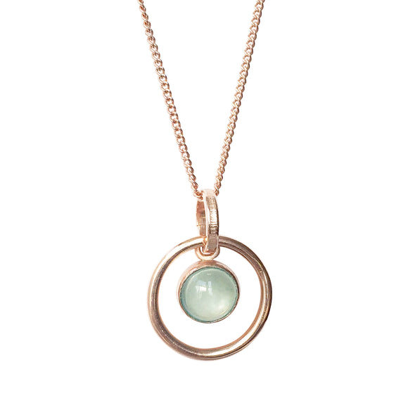 Orb Aquamarine Rose Gold Pendant