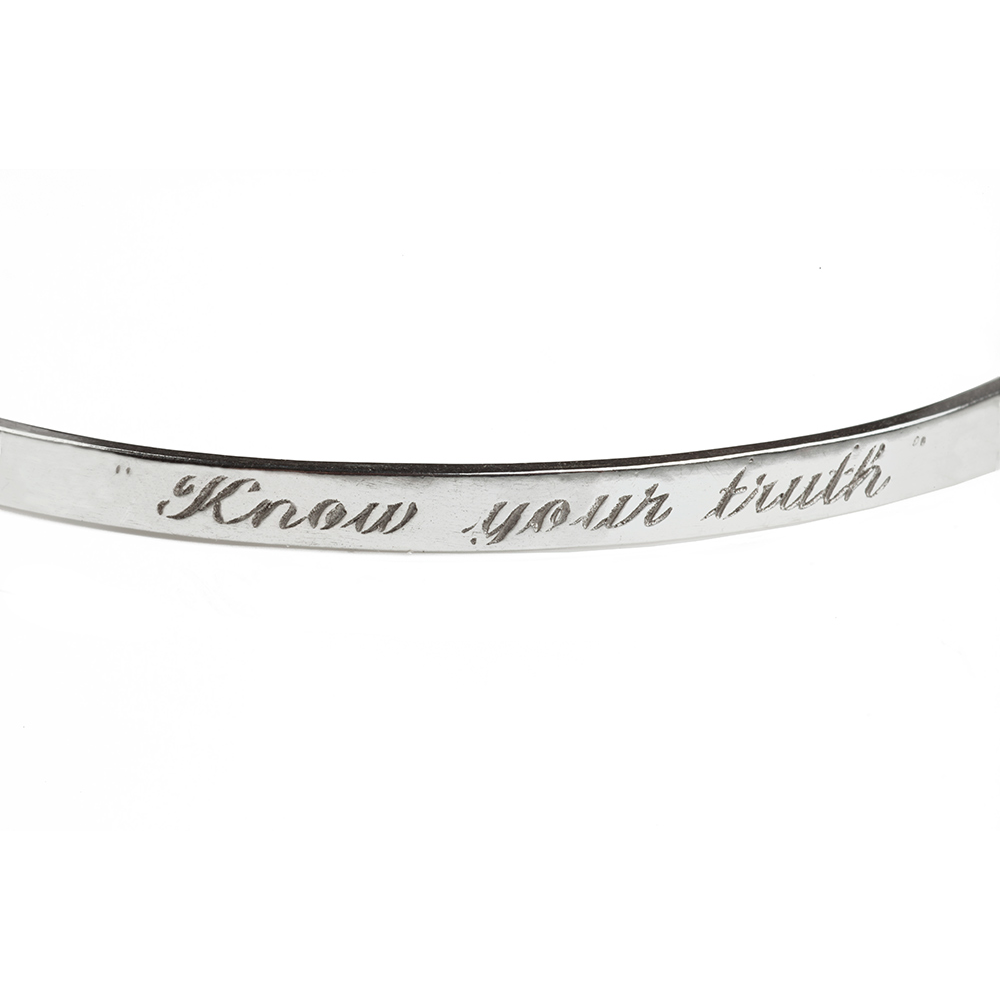 """Know your Truth"" Friendship Bracelet in Silver"