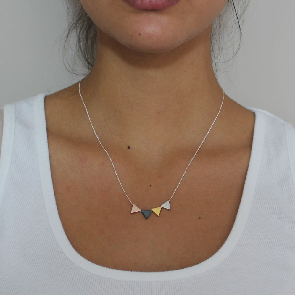 Mixed Triangle Pendant