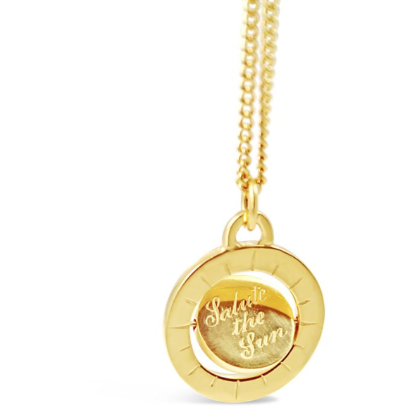 "Double ""Salute the Sun' Pendant in Gold"